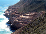 Picture relating to Chichester Range - titled 'Terraced Cliff Face at Kalbarri WA'