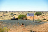 Picture relating to Chichester Range - titled 'The One Millionth Concrete Sleeper in central Australia'