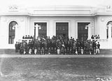 Picture relating to Parliament House - titled 'Unidentified group at Old Parliament House'