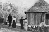 Picture relating to Diddillibah - titled 'South Sea Islanders on a sugar plantation at Diddillibah, Queensland, 1906'