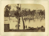 Picture relating to Gympie - titled 'High levels of the Mary River at Gympie, 1870'