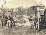 Picture relating to Gympie - titled 'Flooded main street in Gympie, 1870'