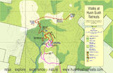 Picture relating to Mount Misery - titled 'Map of walking tracks at Mount Misery'