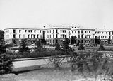 Picture relating to Canberra - titled 'West block, from Canberra Hotel.'