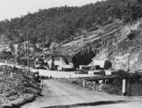 Picture relating to Somerset Dam - titled 'Reinforced sections of Somerset Dam during its construction, southeast Queensland, 1938'