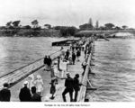 Picture relating to Sandgate - titled 'Strolling along the pier at Sandgate, Brisbane, ca. 1910'
