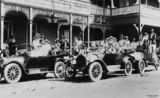 Picture relating to Tweed Heads - titled 'Cars outside the Wells Hotel, Tweed Heads, New South Wales, 1918'