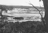Picture relating to Ainslie - titled 'North end of Braddon from Mt Ainslie. Corroboree Park in the centre.'
