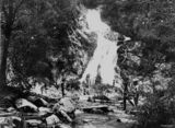 Picture relating to Daintree River - titled 'Waterfall from the Daintree River, near Mossman, Queensland, ca. 1885'