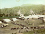 Picture relating to Canungra - titled 'View of the Canungra Sawmill with a bullock team in the foreground'