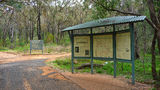 Picture relating to Warrumbungle National Park - titled 'Warrumbungle National Park information sign'