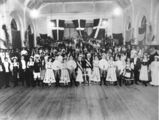 Picture relating to South Brisbane - titled 'Danish ball at the South Brisbane Town Hall, 1900-1910'