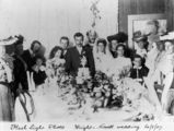 Picture relating to Queensland - titled 'Wedding breakfast at the Wright-Howell wedding, 1907'