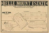 Picture relating to Paddington - titled 'Estate map of Belle Mount Estate, Paddington, Queensland'