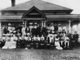 Picture relating to Pittsworth - titled 'Group portrait of Pittsworth personalities, Queensland, ca. 1910'