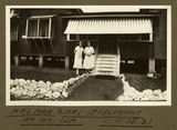 Picture relating to Mount Isa - titled 'Ladies standing outside a building in Mt. Isa, 1932'