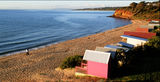 Picture relating to Mornington - titled 'Beach and bathing boxes Mornington'