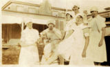 Picture relating to Parkes - titled 'Parkes-- Trainie Nurses out side the Parkes Hospital ..'