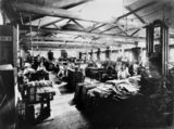 Picture relating to Brisbane - titled 'Composing department at the Government Printing Office, Brisbane, 1921'