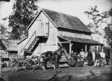 Picture of / about 'Bethania' Queensland - German immigrant family on their farm, Bethania area, 1872