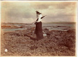 Picture relating to Thursday Island - titled 'Agnes on the reef, Thursday Island'