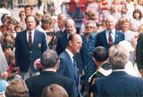 Picture relating to Chichester Range - titled 'Prince Phillip greeting dignitaries at Brisbane 1982'