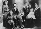 Picture relating to Queensland - titled 'Bloxsom family, 1908'