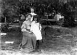 Picture relating to Queensland - titled 'Mrs John Bates with Vera and Alex Bates'