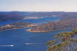 Picture relating to Hawkesbury River - titled 'Hawkesbury River, Milson and Peat Islands and Prickly Point'