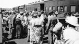 Picture of / about 'Mount Isa' Queensland - Crowds on the Mt Isa Station platform, September 1932