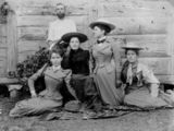 Picture relating to Queensland - titled 'Group of unidentified women posing for a photograph, ca. 1890-1895'