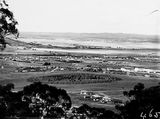 Picture relating to Kingston - titled 'View from Red Hill over Collins Park, Manuka and Kingston toward Duntroon.'