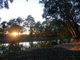 Picture relating to Nyah - titled 'sunrise, murray river,Nyah'