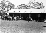 Picture of / about 'Russell' the Australian Capital Territory - School building with children and crowd at the opening of Mount Russell School