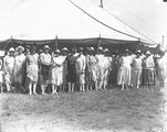 Picture relating to Acton - titled 'Group of ladies at a marquee - Acton racecourse'