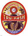Picture relating to Brisbane - titled 'Tru-Pash cordial label'