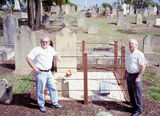 Picture relating to Campbelltown - titled 'Robert Woodbridge born 1803    Restored Grave 2003 '