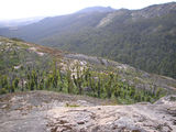 Picture relating to Porongurup National Park - titled 'Looking back towards Nansy Peak and gully we just walked up'