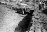 Picture of / about 'Kilcoy' Queensland - Digging a hole for the construction of the Kilcoy Swimming Pool
