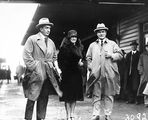 Picture relating to Bruce - titled 'Royal Visit, May 1927 - Rt Hon S M Bruce and Mrs. Bruce with Sir John Butters.'