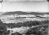 Picture relating to Molonglo River - titled 'Kingston, Griffith and Red Hill from Mt Ainslie. Molonglo River through the centre.'