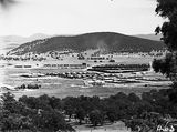 Picture relating to Mount Ainslie - titled 'Braddon and Civic Centre from Mount Ainslie, Ainslie Hotel in foreground.'
