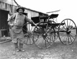 Picture relating to Charleville - titled 'Arthur Richardson, a blacksmith and wheelwright for Cobb & Co., Charleville, ca. 1912'