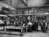 Picture relating to Fortitude Valley - titled 'Butchers standing inside the Sparkes Butcher shop, Fortitude Valley, Brisbane, Queensland, ca.1900'