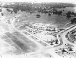 Picture relating to Kings Avenue - titled 'Ariel view over East Block and Kings Avenue, looking west.'