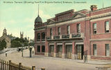 Picture relating to Brisbane - titled 'Fire Brigade Headquarters on the corner of Wickham Terrace and Wharf Street, Brisbane'