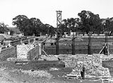 Picture relating to Acton - titled 'Australian Institute of Anatomy, foundations and footings under construction, McCoy Circle, Acton.'
