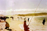 Picture relating to Fraser Island - titled 'Beach Fishing for Taylor at Indian Head Fraser Island 1976'
