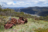 Picture relating to Mount Franklin - titled 'Mount Franklin Austin A40 Ski Tow'