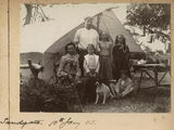Picture relating to Sandgate - titled 'Camping with the Williams family at Sandgate'